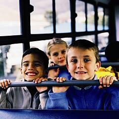 Students on the bus