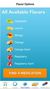 FLAVORx App Flavor Choice Screen